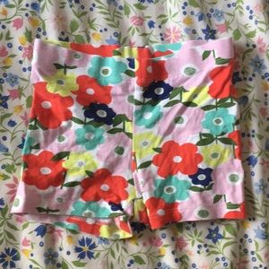 Mini Boden floral jersey shorts 3T